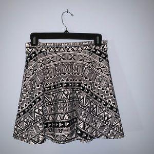 High Waisted Tribal Print Skirt